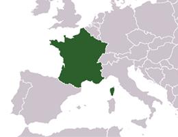 Francija lokacija